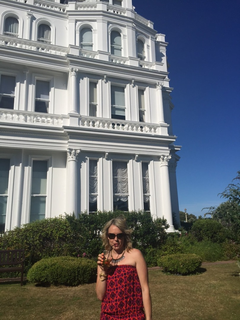 At the Grand hotel in Eastbourne for the reception. Pimms and Lemonade anyone!
