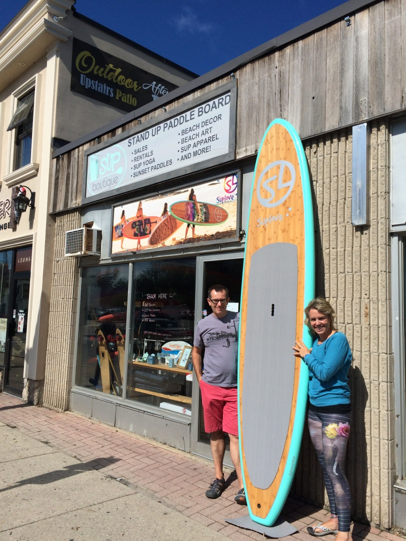 A trip to see friends in South Hampton and Port Elgin. This is also where I really splurged and got a new SUPLove board. Soooo lucky me.