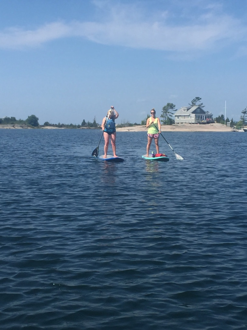 Mom got up on the SUP too.