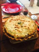 Ricotta Pie, heavy, tasty, great for company